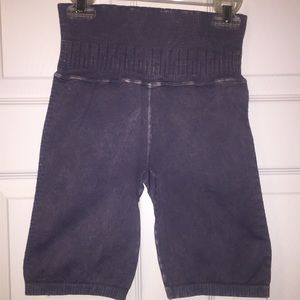 New Free People High Waisted Legging Shorts Purple